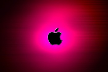 アップル、ロゴ、ピンク-485x728